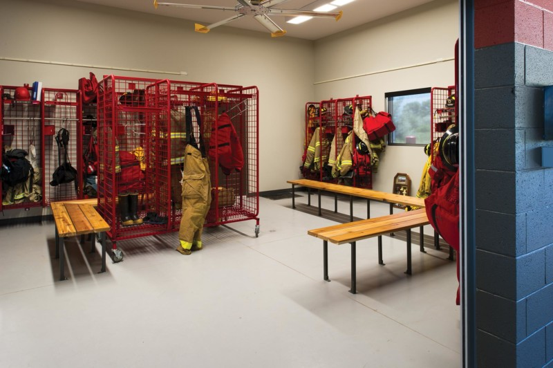 Naples-Fire-Station-Interior-Locker-Room