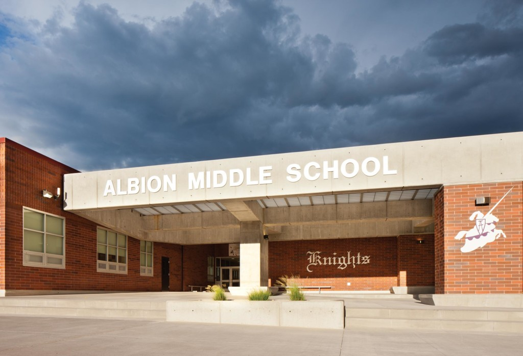 Albion-Middle-School-Exterior-Entry-Canopy